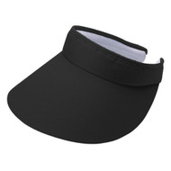 ATHLETIC LARGE PEAK TWILL CLIP-ON VISOR
