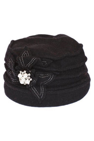 Ribbed Winter Cap with Bow