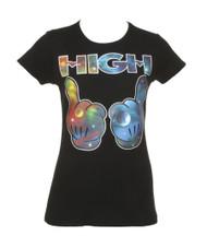 Womens Galaxy HIGH Hands Short-Sleeve T-Shirt