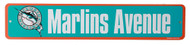 Florida Marlins Avenue MLB Street Sign, Teal Orange