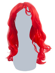 Womens Burlesque Red Synthetic Costume Wig