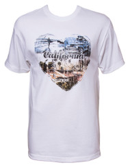 Men's California Love Heart Short-Sleeve T-Shirt