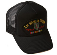 Delux 3D Patch Embroidery Trucker Hat, 1st Infantry Division