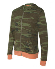 Printed Eco-Jersey Hooded Full-Zip