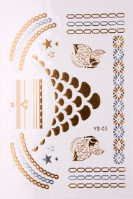 Metallic Temporary Tattoos (Various Designs)
