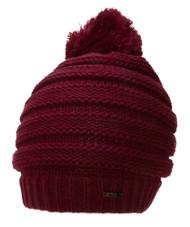 Thick Knitted Beanie w/ Pom