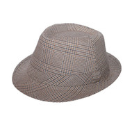MEN'S PLAID FEDORA HAT
