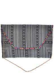 Womens Fashion Aztec Pattern Printed Clutch Bag
