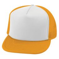 Vintage 2 Tone Foam Trucker Hat Cap , Gold