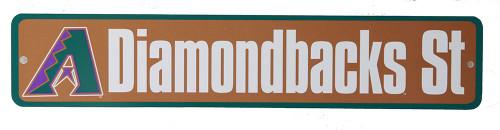 Arizona Diamondbacks St. MLB Street Sign, Light Brown Green
