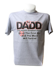 Dads Against Daughters Dating Graphic T Shirt, Grey