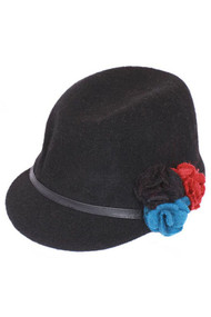 Winter Cap with Flower Band