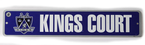 Los Angeles Kings Court NHL Street Sign, Purple White