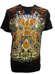 Konflic Men's Tribal Eagle Eye View Graphic Fashion MMA T Shirt