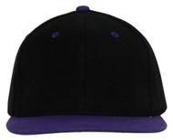 Black/Purple Adjustable Snapback