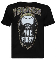 """Mens Black """"I Support The First"""" Short-Sleeve T-Shirt"""