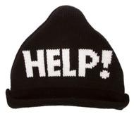 """Help!"" Knitted Triangle Beanie"