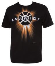 DC Orange Lantern Avarice Mens Black T-Shirt