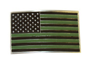 United States Flag Distressed Subdued Buckle