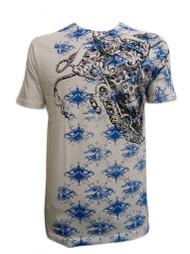 Konflic Men's Castle Skull Dagger Graphic Fashion MMA T Shirt