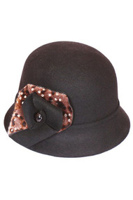 Womens Animal Print Cloche Cap