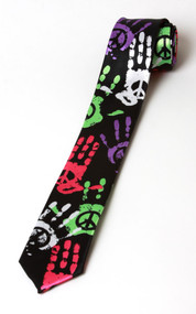 "2"" Peace Handprint Necktie ( 2 PACK )"