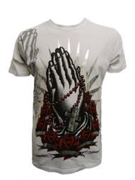 Konflic Men's Prayer Hands Graphic Fashion MMA T Shirt