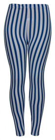 Womens Blue/White Mod Sheer Leggings (One Size)