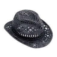 LADIES' TOYO JACQUARD FEDORA HAT