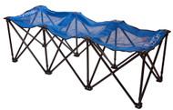 Sweat Pro Bench - 3 Seat Folding Sports Bench - Blue