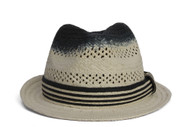 TopHeadwear Two-Tone Classic Band Fedora