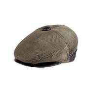 Corduroy Ivy Cap w/ Warmer Flap - Olive