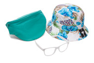 Men's Festival Accessory Kit w/ Floral Bucket, Fanny Pack and Buddys