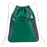 'Elite'' Drawstring Pack - Hunter Green