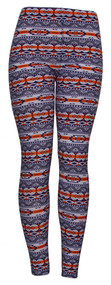 Womens Purple/Orange Tribal Sheer Leggings (One Size)