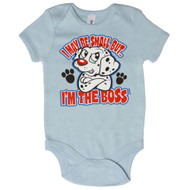 I May Be Small But I'm The Boss Dalmation Bodysuit