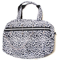Clover Pinned Gothic Chain Style Hand Bag  Black and White Cheetah Animal Print