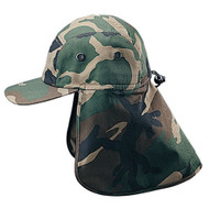 CAMOUFLAGED T/C TWILL CAP WITH FLAP