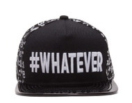 #WHATEVER Emoticon Polished Bill Snapback
