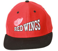 Detroit Red Wings NHL Snapback Hat, Red Black + GT Sweat Wristband