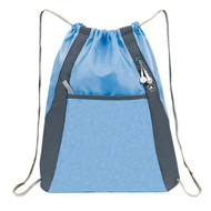 'Elite'' Drawstring Pack - Baby Blue