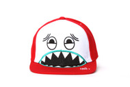 I'm Totally Different Biting Face Red/White Snapback