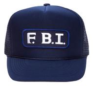 Military Patch Adjustable Trucker Hats - F.B.I.