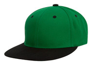 TopHeadwear Polyester Two-Tone Flat Bill Snapback