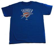 Oklahoma City Thunder Audience Fan Adidas Blue T Shirt