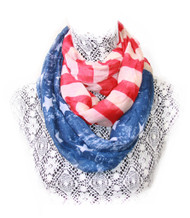 American Flag Infinity Loop Winter Scarf