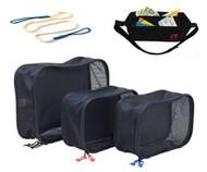Gravity Travels Set - 3 Set Packing Cube + Gear Clothesline + Money Belt