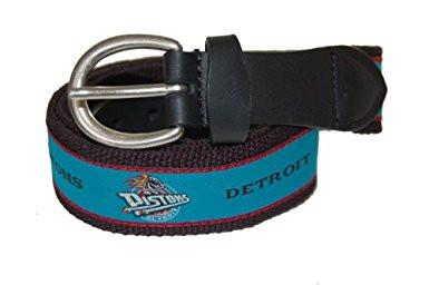 The Mark Adult Canvas Material NBA Detroit Pistons Belt w/Buckle Closure