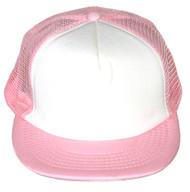 Vintage 2 Tone Foam Trucker Hat Cap , Light Pink