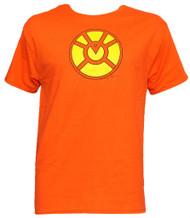 Officially Licensed DC Comics Orange Lantern Symbol T-Shirt